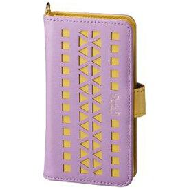 サンクレスト SUNCREST スマートフォン用[多機種対応] マルチスマホケース GIRLSi パンチング パープル×イエロー SMC-C50