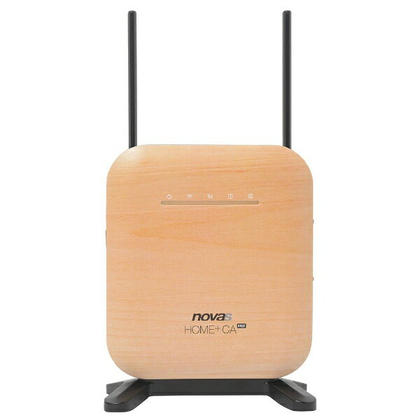 シンセイコーポレーション 【SIMフリー】novas HOME+CA FREE ナチュラルウッド [IML-M2300W-NW] LTE/Wi-Fi[無線ac/n/a(5GHz) n/g/b(2.4GHz)]microSIMx1 SIMフリー据え置き型ルーター[IMLM2300WNW]