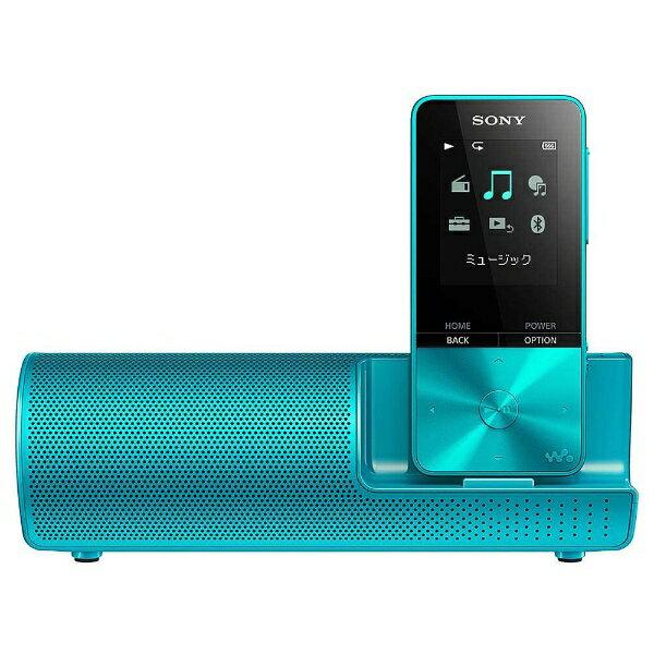 【送料無料】 ソニー デジタルオーディオプレーヤー WALKMAN S310シリーズ (ブルー/4GB) NW-S313K LC スピーカー付属【ワイドFM対応】[NWS313KLC]