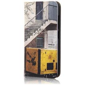 イングレム Ingrem ZenFone 3(ZE520KL)用 手帳型ケース ルーニー・テューンズ 階段 IJ-WAZ3LC/LN011
