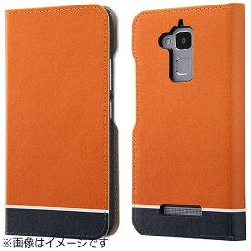 イングレム Ingrem ZenFone 3 Max(ZC520TL)用 手帳型ケース オリジナルデザイン オレンジ IJ-RAZ3MLC/AK094