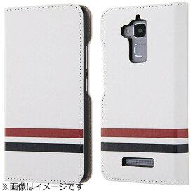 イングレム Ingrem ZenFone 3 Max(ZC520TL)用 手帳型ケース オリジナルデザイン ホワイト IJ-RAZ3MLC/AK092