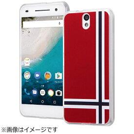 イングレム Ingrem Android One S1用 ハイブリッドケース オリジナルデザイン レッド IJ-ANO2CC2/AK096