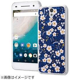 イングレム Ingrem Android One S1用 ハイブリッドケース オリジナルデザイン 小花/ホワイト IJ-ANO2CC2/AK049
