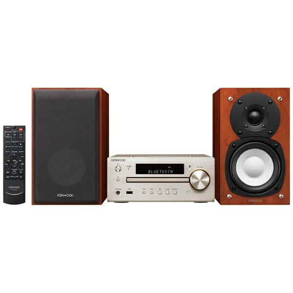 ケンウッド KENWOOD 【ハイレゾ音源対応】Bluetooth対応 ミニコンポ(ゴールド) K-515-N 【ワイドFM対応】[K515N]
