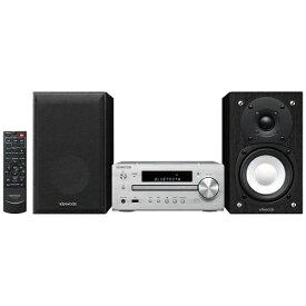 ケンウッド KENWOOD 【ハイレゾ音源対応】Bluetooth対応 ミニコンポ(シルバー) K-515-S 【ワイドFM対応】 [ワイドFM対応 /Bluetooth対応 /ハイレゾ対応][CDコンポ K515S]