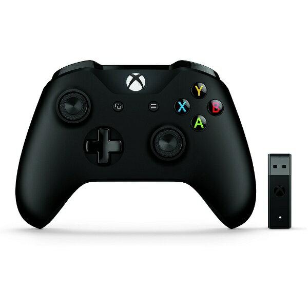 【送料無料】 マイクロソフト ワイヤレスゲームパッド [11ボタン・Win] Xbox Controller+ Wireless Adapter for Windows 10 4N7-00008
