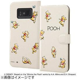 イングレム Ingrem Galaxy S8+用 手帳型ケース マグネット式 ディズニー・くまのプーさん18 IJ-DGS8PMLC/PO018