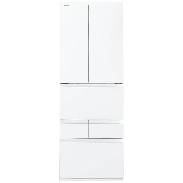 【標準設置費込み】 東芝 TOSHIBA 6ドア冷蔵庫 (462L) GR-M460FW-ZW クリアシェルホワイト 「べジータFWシリーズ」
