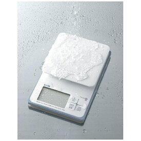 タニタ TANITA クッキングスケール 「洗えるデジタルキッチンスケール」(2kg) KW-220-WH ホワイト[KW220WH]