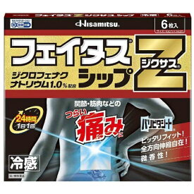 【第2類医薬品】 フェイタスZジクサスシップ(6枚)【wtmedi】久光製薬 Hisamitsu