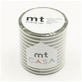 カモ井加工紙 KAMOI mt CASA 50mm(ボーダー・オリーブ) MTCA5110