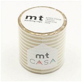 カモ井加工紙 KAMOI mt CASA 50mm(ボーダー・金) MTCA5111