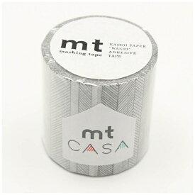 カモ井加工紙 KAMOI mt CASA 50mm(手描きボーダー・モノクロ) MTCA5118