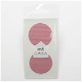 カモ井加工紙 KAMOI mt CASA seal(CASAシール) (ボーダー・いちご) MTCDS026