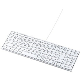 サンワサプライ SANWA SUPPLY SKB-SL17WN キーボード 静音スリム ホワイト [USB /有線][SKBSL17WN]