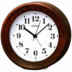 セイコー SEIKO 目覚まし時計 ナチュラルスタイル 茶木地 KR899B [アナログ][KR899B]