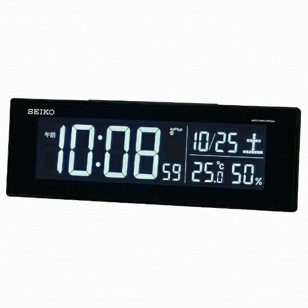 セイコー SEIKO 交流式デジタル電波目ざまし時計(カラーLED表示) DL305K[DL305K]