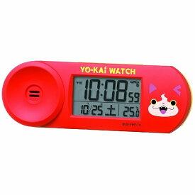 セイコー SEIKO 目覚まし時計 【妖怪ウォッチ】 赤 CQ154E [デジタル /電波自動受信機能有]