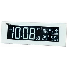 セイコー SEIKO 交流式デジタル電波目ざまし時計(カラーLED表示) DL305W[DL305W]