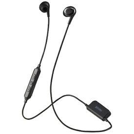 マクセル Maxell ブルートゥースイヤホン カナル型 ブラック MXH-BTC400 [リモコン・マイク対応 /ワイヤレス(左右コード) /Bluetooth][MXHBTC400BK]