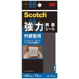 3Mジャパン スリーエムジャパン スコッチ 強力両面テープ外壁面用 70mmX140mm SB−70