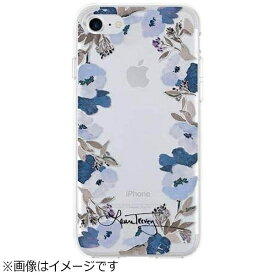 FOX iPhone 7用 RECOMMENDED STYLES Clear Tough Case Floral Crown Blue/Silver Flio LTIPH003FLBSF