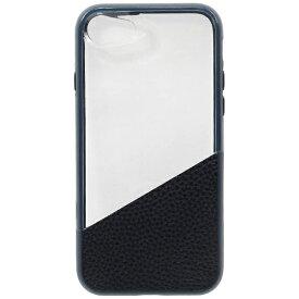OWLTECH オウルテック iPhone 7用 耐衝撃 本革+PC+TPU ハイブリッドケース ネイビー OWL-CVIP724-CNV