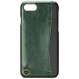 PGA iPhone 7用 バックポケットケース Stitch グリーン PG-16MCA11GR