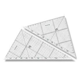 ステッドラー レイアウト用方眼三角定規 24cm 966 24
