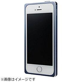 坂本ラヂヲ iPhone SE(第1世代)4インチ / 5s / 5用 GRAMAS Straight Metal Bumper ネイビー GMB506NV