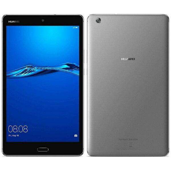 【送料無料】 HUAWEI ファーウェイ 【スマホエントリーでポイント10倍 8/15 23:59まで】【LTE対応】MediaPad M3 Lite スペースグレー [CPN-L09] 8型・MSM8940・ストレージ 32GB・メモリ 3GB nanoSIMx1 2017年8月モデル Android 7.0 SIMフリータブレット