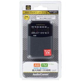 オーム電機 OHM ELECTRIC RAD-P125N 携帯ラジオ AudioComm グレー [AM/FM /ワイドFM対応][RADP125NH]