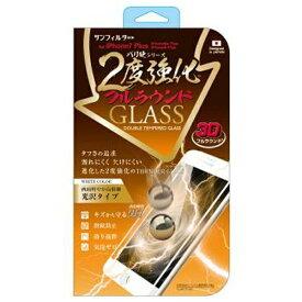 サンクレスト SUNCREST iPhone 7 Plus用 バリ硬 2度強化ガラス フルラウンド ホワイト IP7P3DWH