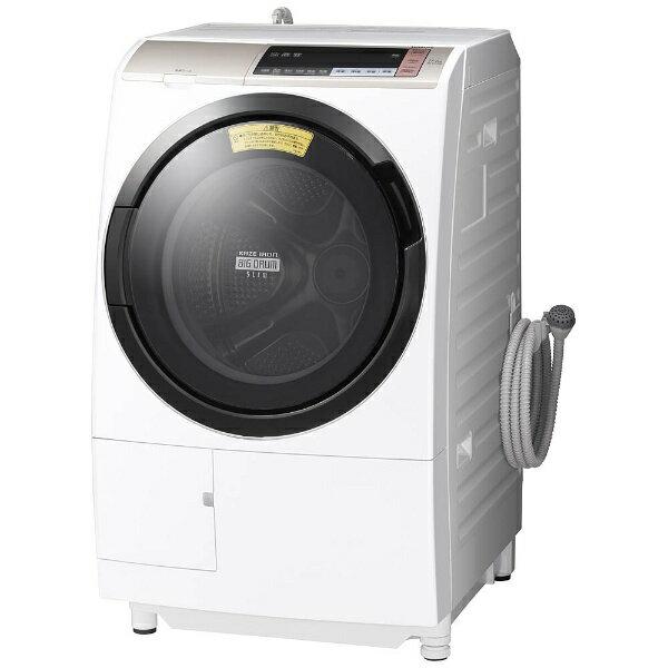 【標準設置費込み】 日立 [左開き] ドラム式洗濯乾燥機 (洗濯11.0kg/乾燥6.0kg)「ヒートリサイクル 風アイロン ビッグドラム」 BDSV110BL-Nシャンパン 【洗濯槽自動お掃除・ヒーター乾燥機能付】[BDSV110BL_N]