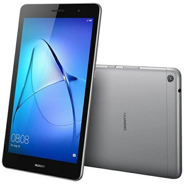 【送料無料】 HUAWEI Android 7.0タブレット[8型・MSM8917・ストレージ 16GB・メモリ 2GB] MediaPad T3 8 スペースグレー KOB-W09 (2017年8月モデル)[KOBW09]