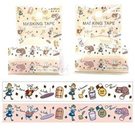モトバヤシ MOTOBAYASHI マスキングテープ 3cm×4m アリス MKT-90[マスキングテープMKT90]