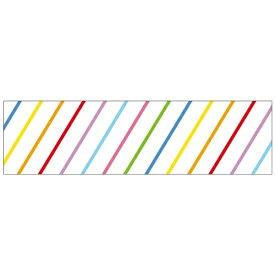 ワールドクラフト world craft マスキングテープ 15mm(斜めストライプ カラフル) W02-MK-T0004[W02MKT0004]