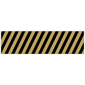 ワールドクラフト world craft マスキングテープ 15mm(斜めストライプ ブラック×ゴールド) W02-MK-T0008[W02MKT0008]