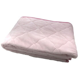 生毛工房 【敷パッド】綿ベロア シングルサイズ(100×205cm/ピンク)