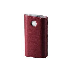 エレコム ELECOM 電子たばこglo用ソフトレザーカバー ハードタイプ ET-GLLC2RD レッド