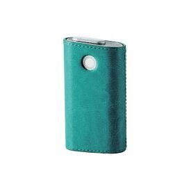エレコム ELECOM 電子たばこglo用ソフトレザーカバー ハードタイプ ET-GLLC2GN グリーン