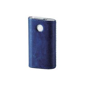 エレコム ELECOM 電子たばこglo用ソフトレザーカバー ハードタイプ ET-GLLC2BU ブルー