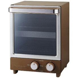 ビタントニオ Vitantonio VOT-20-B オーブントースター ブラウン[縦型 一人暮らし おしゃれ 小型 新生活 家電 VOT20B]