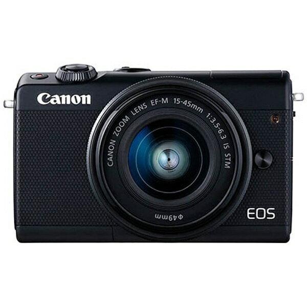 【送料無料】 キヤノン CANON EOS M100【EF-M15-45 IS STM レンズキット】(ブラック/ミラーレス一眼カメラ)[EOSM100BK1545ISSTMLK]