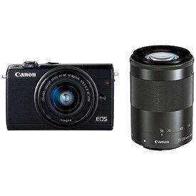 キヤノン CANON EOS M100 ミラーレス一眼カメラ ダブルズームキット ブラック [ズームレンズ+ズームレンズ][EOSM100BKWZK]