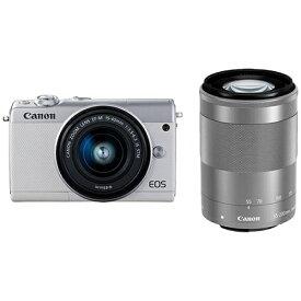 キヤノン CANON EOS M100 ミラーレス一眼カメラ ホワイト [ズームレンズ+ズームレンズ][EOSM100WHWZK]