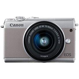 キヤノン CANON EOS M100 ミラーレス一眼カメラ EF-M15-45 IS STM レンズキット グレー [ズームレンズ][EOSM100GY1545ISSTMLK]