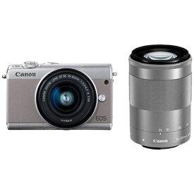キヤノン CANON EOS M100 ミラーレス一眼カメラ ダブルズームキット グレー [ズームレンズ+ズームレンズ][EOSM100GYWZK]