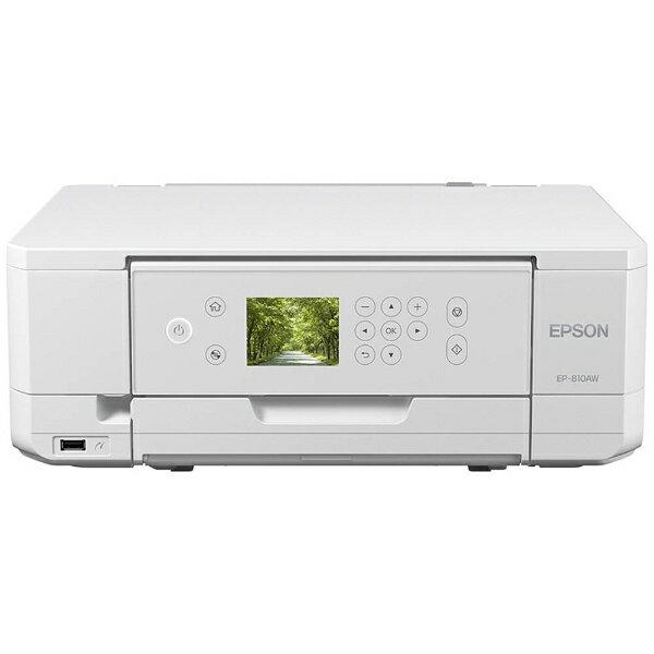 【送料無料】 エプソン EPSON A4インクジェットプリンター (ホワイト)[無線LAN] EP-810AW
